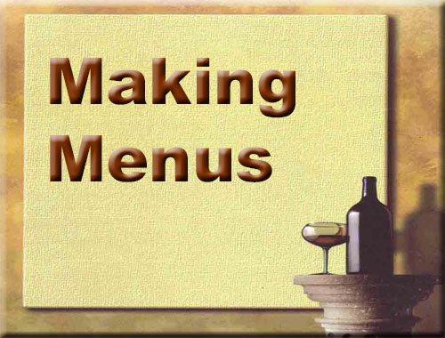 Click for Making Menus Video